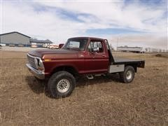 1978 Ford F250 4x4 Flatbed Pickup