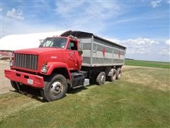 1988 White/GMC Brigadier Tri/A Grain Truck W/ 20' Box And Hoist