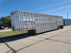 1999 Guthrie T/A Aluminum Livestock Trailer