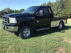 2001 Ford F250 Lariat Super Duty Flatbed Pickup