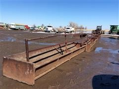 Bottomless Fence Line 20'x4' Steel Feed Bunks
