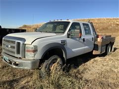 2008 Ford F550 Super Duty 4X4 Crew Cab Flatbed (INOPERABLE)
