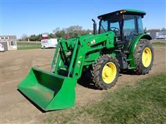 "2015 John Deere 5100E MFWD Tractor W/H240 Loader & 85"" Bucket"