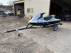2013 Kawasaki STX-15F Jet Ski W/2014 Shore Land'r Trailer