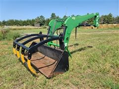 Buhler / Allied 2895 Front End Loader W/Four Tine Grapple