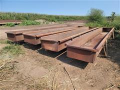 20' Wide Steel Feed Bunks