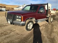 1989 GMC K1500 4x4 Flatbed Pickup