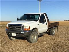 1999 Ford F250 4X4 Flatbed Pickup