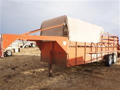 1980 WW 6'x20' Halftop/Softtop T/A Steel Stock Trailer
