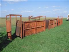 Homemade Steel Livestock Alleyway