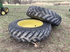 Titan 480/80R42 Tires w/ Dual Rims & Hubs