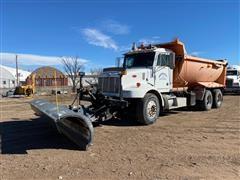 1998 Peterbilt 330 T/A Dump Truck W/Snow Plow