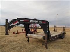 2012 Lamar CG14K 7' X 24' T/A Flatbed Trailer