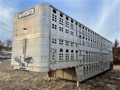 1988 Wilson PSDCL-208 48' T/A Aluminum Livestock Trailer