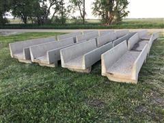 8' Concrete Fence Line Bunks
