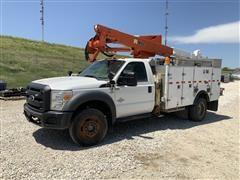 2013 Ford F550 4x4 Power Stroke Diesel Bucket Truck