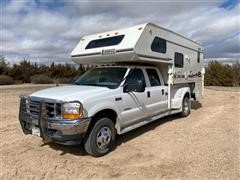 2001 Ford F350 Dually Pickup W/Bed Camper