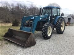1997 New Holland 8160 MFWD Tractor W/Loader
