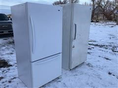 Amana & Coldspot Refrigerator/freezer & Upright Freezer