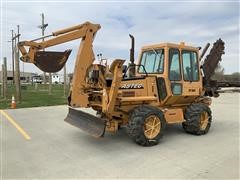 2009 Astec RT960 4x4x4 Trencher, Backhoe & Backfill Blade