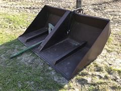 Gnuse 6' Hydraulic Dump Scoop W/Bale Spear