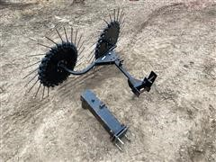H&S 2 Wheel Center Divide Rake Attachment