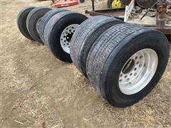 Continental 445/50R22.5 Tires & Aluminum Rims