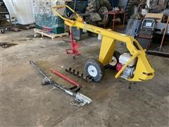 Ground Hog HD99-H Portable Gas Powered Hydraulic Post Hole Digger W/ Augers