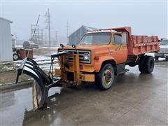 1977 GMC 6500 S/A Dump Truck W/Snow Plow