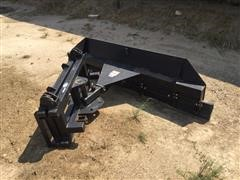 Mensch Rubber Round-Up 7' Feed Pusher Skid Steer Attachment