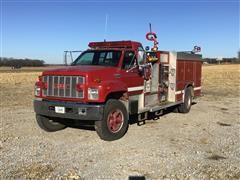 1991 GMC TopKick C7500 Fire Pumper Truck