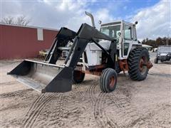 1974 Case 1370 2WD Tractor W/Farmhand XL1140 Loader