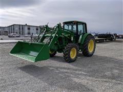 2009 John Deere 6430 MFWD Tractor W/Loader