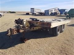 Shop Built T/A Flatbed Dump Trailer