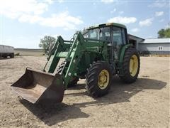 John Deere 6400 MFWD Tractor & 640 Loader
