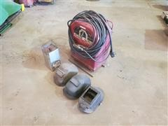 Lincoln Electric AC 225-S Arc Welder W/Rod & Helmets