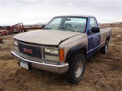 1993 GMC 2500 4x4 Pickup (INOPERABLE)