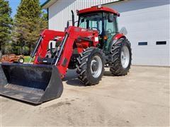2009 Case IH Farmall 95 MFWD Tractor W/loader