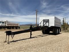 1991 Vick T/A End Dump Pup Trailer