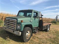1988 International 1954 S-Series S/A Flatbed Truck W/air Compressor & Winch