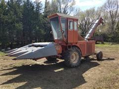 """New Idea 702 Uni-Harvester W/Picker Unit & 3R36"""" Corn Head"""