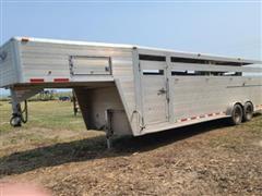 2013 Hillsboro Endura ES7-26-68 T/A Aluminum Livestock Trailer