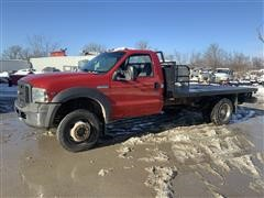 2005 Ford F450XL Super Duty 4x4 Flatbed Service Truck