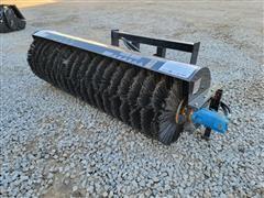 2021 Mower King SSAB72 Hydraulic Broom Skid Steer Attachment
