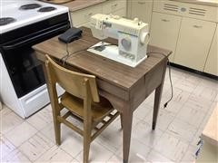 Singer 9110 Sewing Machine W/Table & Chair