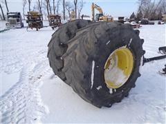 John Deere S680 Rear Tires & Rims