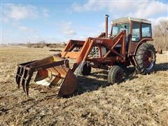 1976 International 1066 2WD Tractor W/DU-AL Loader