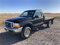 1999 Ford F250 Super Duty 4x4 Flatbed Pickup