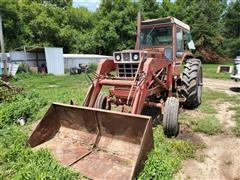 1976 International 1066 2WD Tractor W Loader