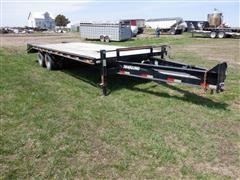 2000 Travalong T/A 25' HD Flatbed Trailer